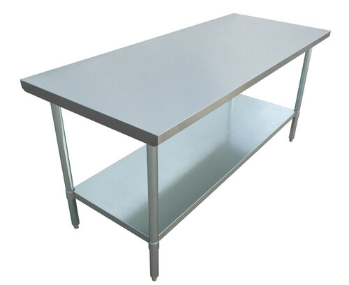 """Adcraft WT-3072-E 30""""x72"""" Stainless Steel Work Table"""