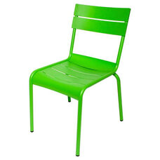 Beachcomber Stackable Outdoor Aluminum Armless Chair - Lime