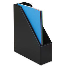 Rolodex™ Wood Tones Magazine File - 3 1/2 x 10 1/4 x 11 3/4 - Black