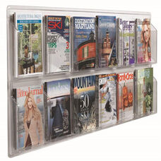 Clear-Vu Horizontal Magazine and Literature Display - 12 Magazines