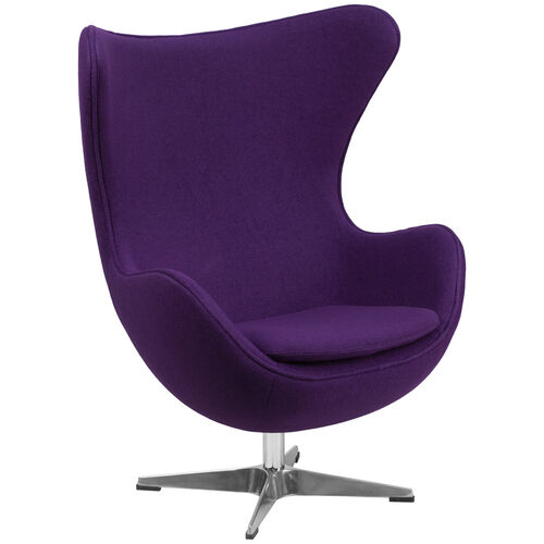 Our Purple Wool Fabric Egg Chair with Tilt-Lock Mechanism is on sale now.