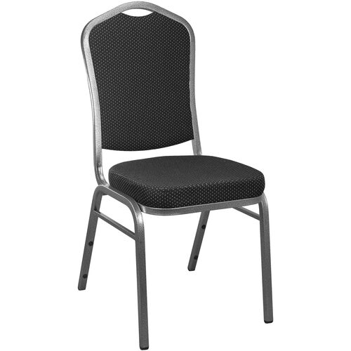 Advantage Black Patterned Crown Back Banquet Chair
