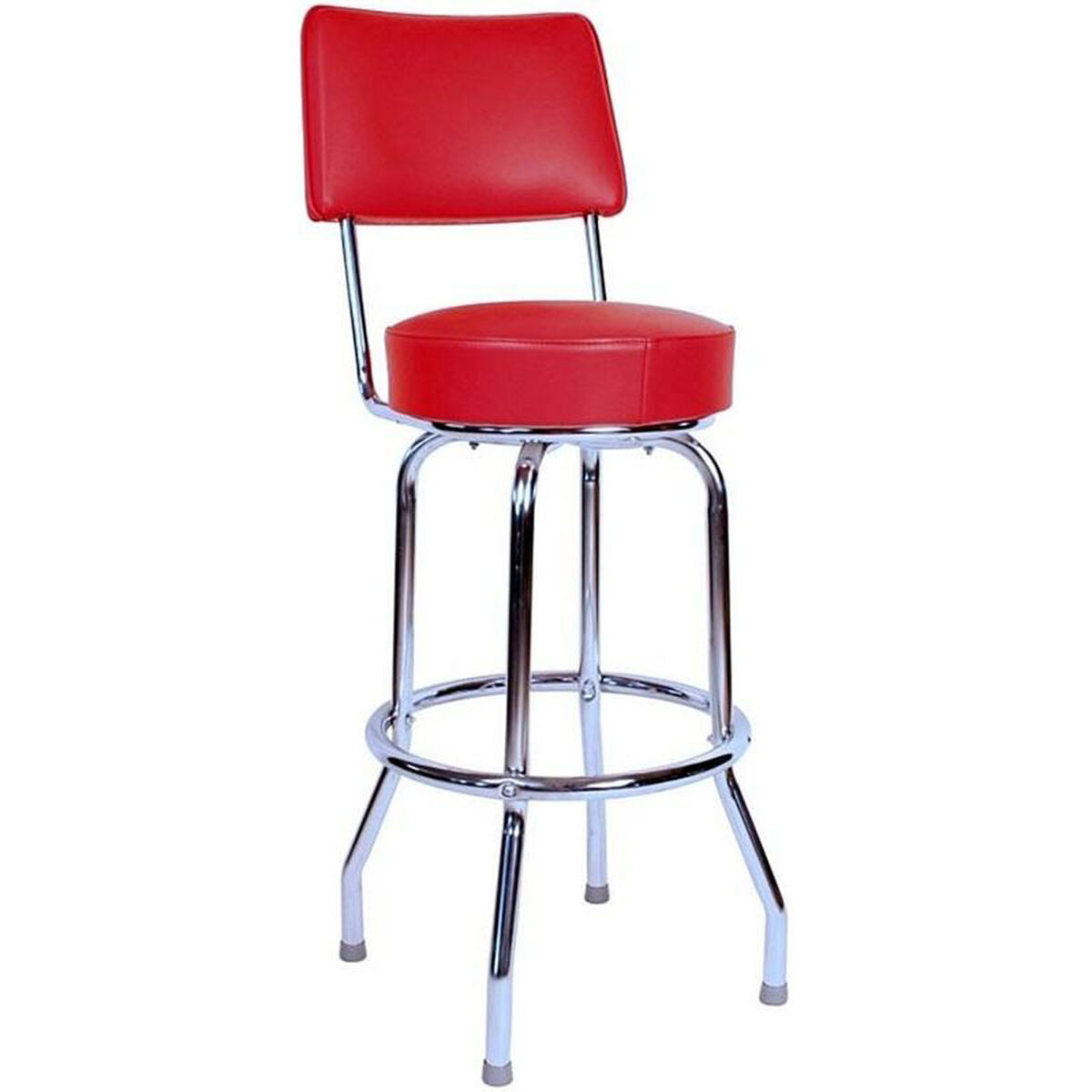 Red Vinyl Swivel Barstool 0 1957red24 Churchchairs4lesscom