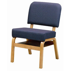 3846 Fellowship Chair with Book Shelf, Upholstered Back & Seat - Grade 2