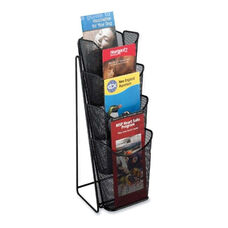 Safco Pamphlet Display - Mesh - 4 Pockets - 5 1/4