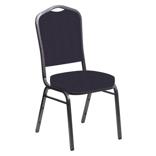 Our Embroidered Crown Back Banquet Chair in Bonaire Duke Fabric - Silver Vein Frame is on sale now.