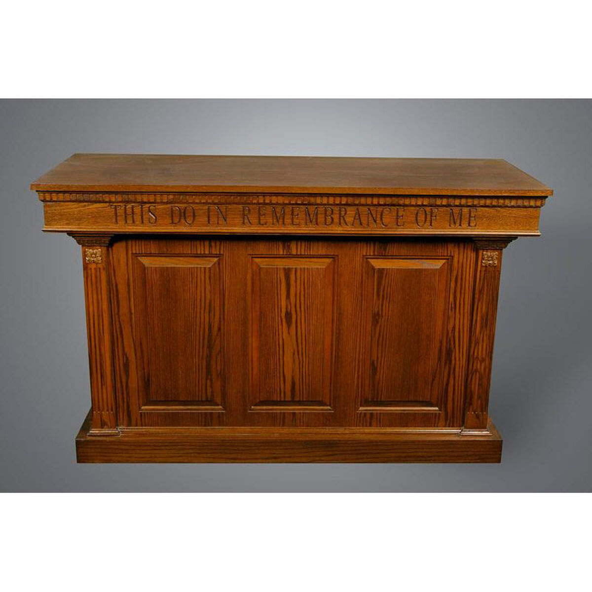 Our Stained Red Oak Closed Communion Table Is On Now