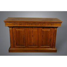Stained Red Oak Closed Communion Table