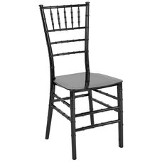 "HERCULES Series Black Resin Stacking Chiavari Chair with <span style=""color:#0000CD;"">Free </span> Cushion"