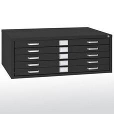 46.75'' W x 35.38'' D x 16.13'' H Five Drawer Flat File Storage - Black