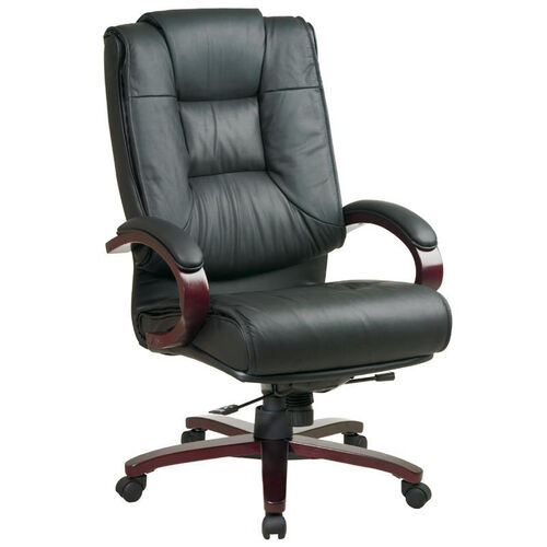 Our Pro-Line II High-Back Executive Leather Chair with Mahogany Base and Padded Arms - Black is on sale now.