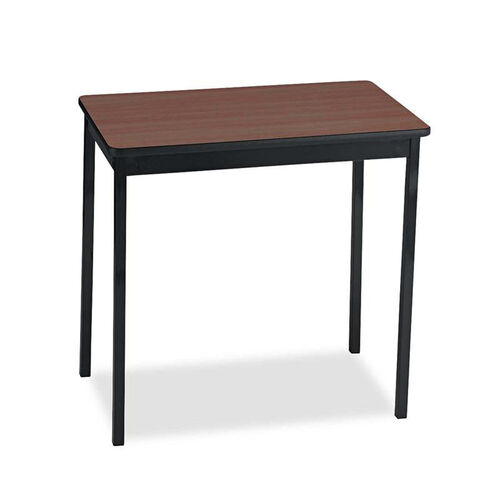 Barricks Manufacturing Company Utility Table - Rectangular - 30w x 18d x 30h - Walnut/Black