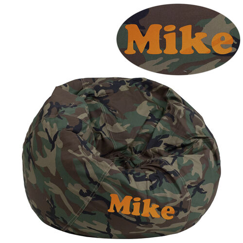 Our Personalized Small Camouflage Kids Bean Bag Chair Is On Now