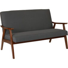 Ave Six Davis Loveseat - Klein Charcoal and Medium Espresso