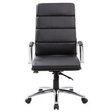 Executive CaressoftPlus™ Chair with Metal Chrome Finish - Black