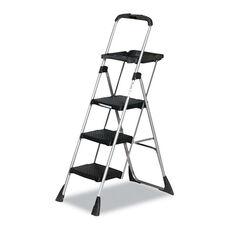 Cosco® Max Work Steel Platform Ladder - 22w x 31d x 55h - 3-Step - Black