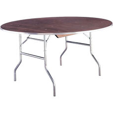 Quick Ship Standard Series Round Banquet Table with Plywood Top - 72