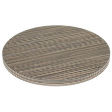 Marco 24''D Indoor Table Top with Zebra Melamine Finish