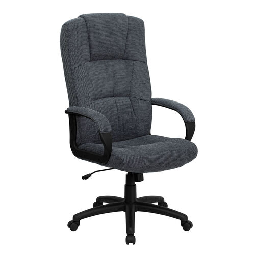 Our High Back Gray Fabric Executive Swivel Office Chair with Arms is on sale now.