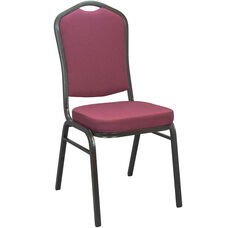 Advantage Burgundy Pattern Crown Back Banquet Chair