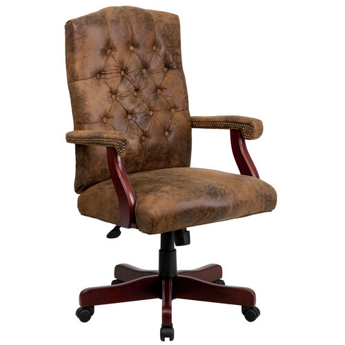 Our Bomber Brown Classic Executive Swivel Office Chair with Arms is on sale now.