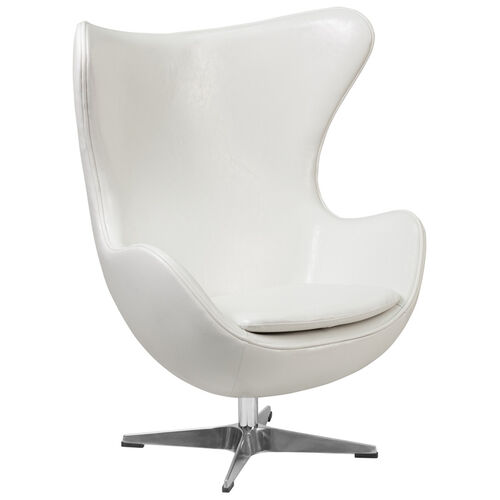 Our Melrose White Leather Egg Chair with Tilt-Lock Mechanism is on sale now.
