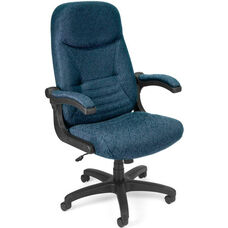 Mobile Arm Executive Conference Mobile Chair - Navy