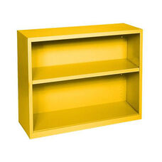 Elite Series 36'' W x 18'' D x 30'' H Two Shelf Welded Bookcase - Yellow