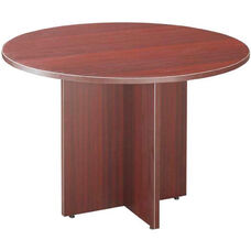 Mahogany Round Conference Table