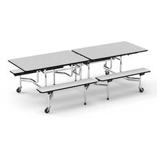 MTB Series Gray Nebula Mobile Folding Bench Table with 17