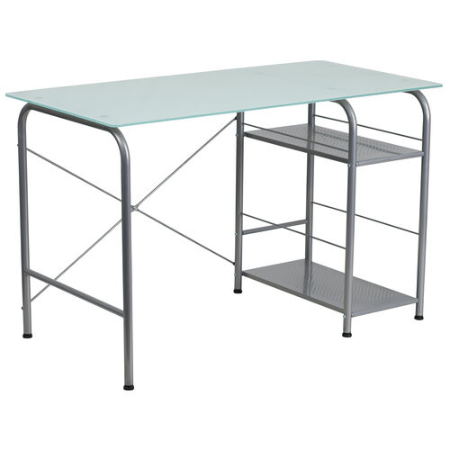 Our Glass Computer Desk with Open Storage is on sale now.