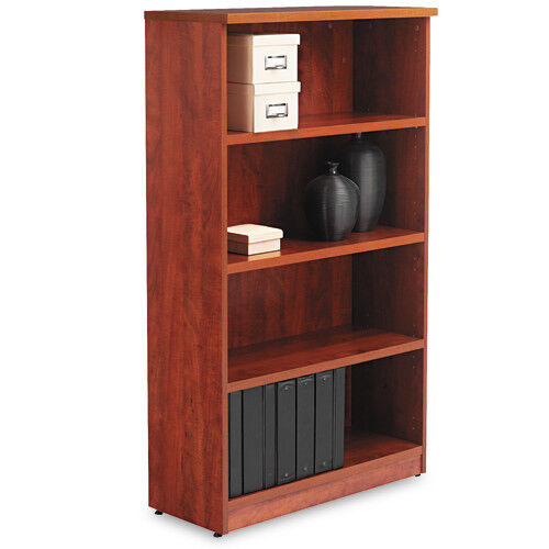 Our Alera® Valencia Series Bookcase - Four-Shelf - 31 3/4w x 14d x 55h - Medium Cherry is on sale now.