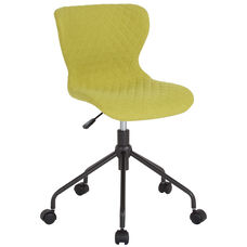Somerset Home and Office Upholstered Task Chair in Citrus Green Fabric