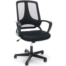 Essentials Swivel Mesh High Back Task Chair with Arms - Black