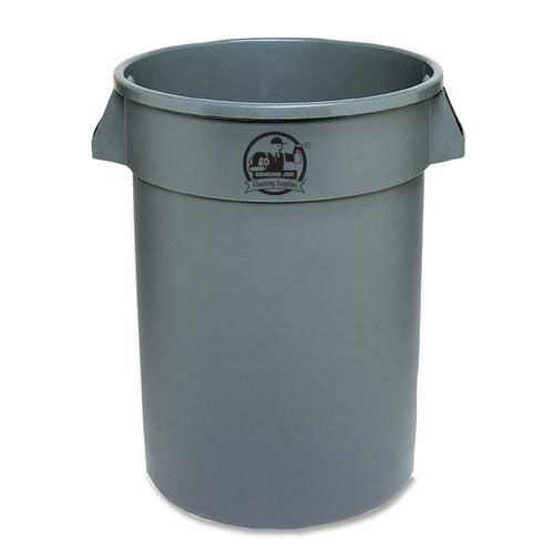 Our Genuine Joe Trash Containers - Heavy -duty - 32 Gallon - Gray is on sale now.