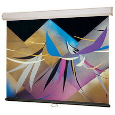 Flame Retardant Wall Screen with Wind-Up Mechanism