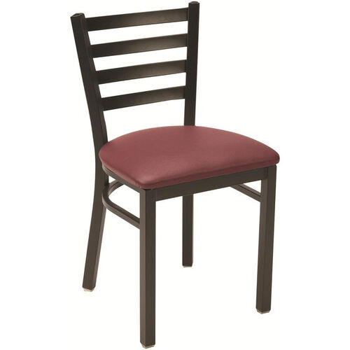 Our 3300 Series Square Steel Frame Armless Cafe Chair with Contoured Ladder Back and Upholstered Seat is on sale now.