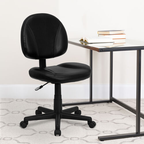 Our Mid-Back Black LeatherSoft Swivel Ergonomic Task Office Chair with Back Depth Adjustment is on sale now.