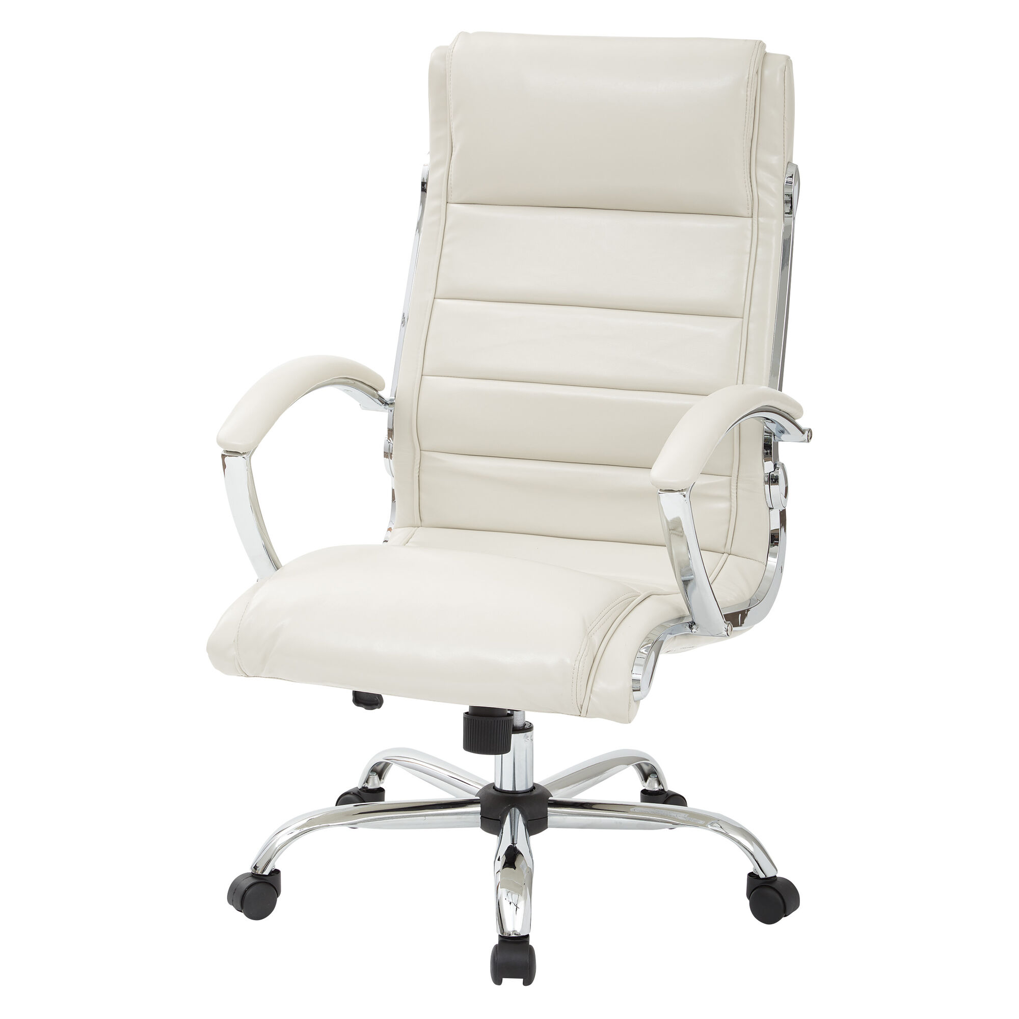 Office star products work smart faux leather executive for Cream office chair