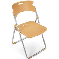 Flexure Folding Chair with Polypropylene Seat and Back - Butterscotch