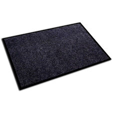 24''W x 36''L Ecotex Entrance Mat with Plush Design - Charcoal