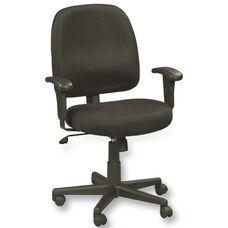 Newport 26'' W x 25'' D x 35.5'' H Adjustable Height Mid Back Mesh Task Chair - Black