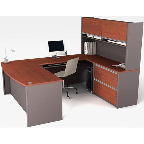 Our Connexion U-Shaped Workstation with Keyboard Shelf and CPU Platform - Bordeaux and Slate is on sale now.