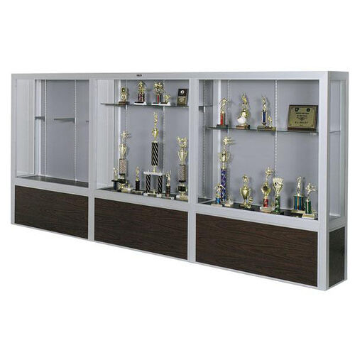 Our Premiere Series Freestanding 3 Door Display Case with Wood Base - 144