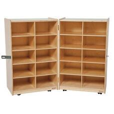 20 Tray Folding Storage Unit - 24-48''W x 15-30''D x 38''H