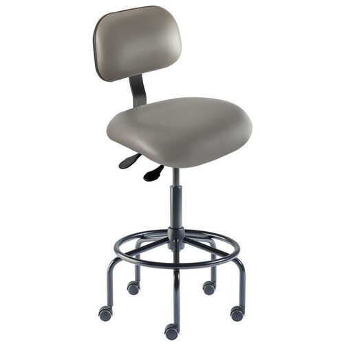 Quick Ship Eton Series Chair with Lumbar Support Backrest and Tubular Steel Base - High Seat Height