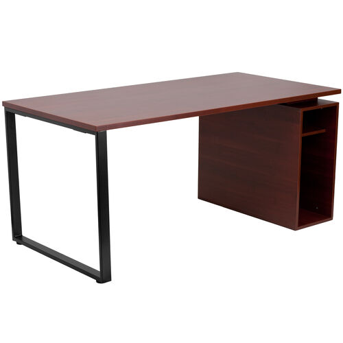 Our Mahogany Computer Desk with Open Storage Pedestal is on sale now.