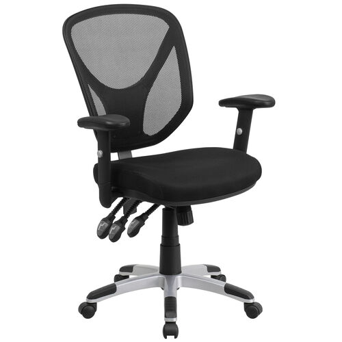 Our Mid-Back Black Mesh Multifunction Swivel Ergonomic Task Office Chair with Adjustable Arms is on sale now.