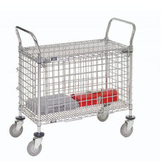Chrome Security Utility Cart - 24
