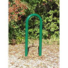 Paint Finished Galvanized Steel Pipe Constructed Single Bike Rack - 18